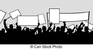Riot clipart picket sign Illustration Picket people 1 Vector
