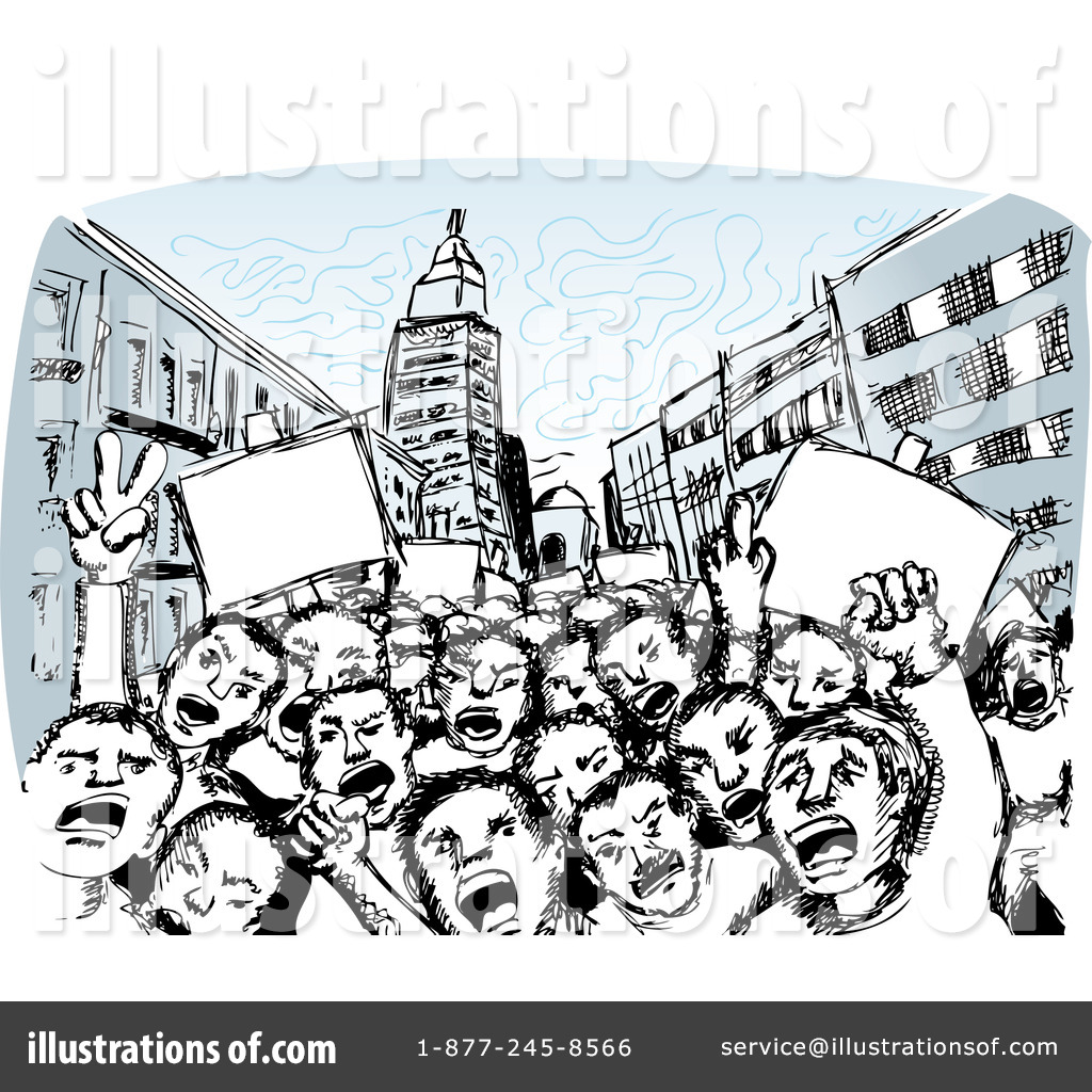 Riot clipart protest #1116808 Clipart by David Royalty