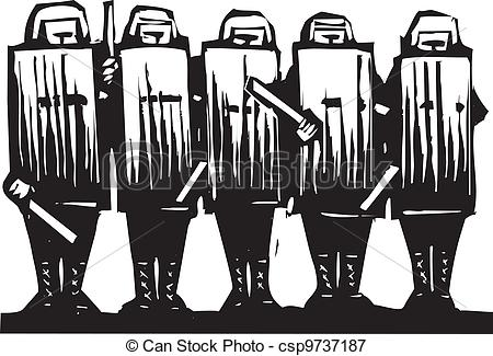 Riot clipart protest Riot Illustration Line Riot riot