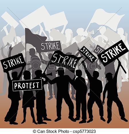 Fist clipart union strike Workers strike protest Art Vector