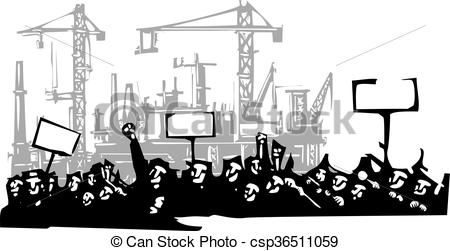 Riot clipart protest Style or image of Woodcut