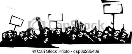 Riot clipart protest Or  a image Vector