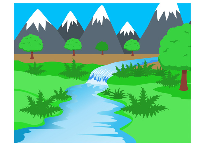 River clipart rocky mountain Water streams Size: rivers Illustrations