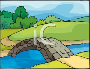 Bridge clipart river Stone Image To a Leading