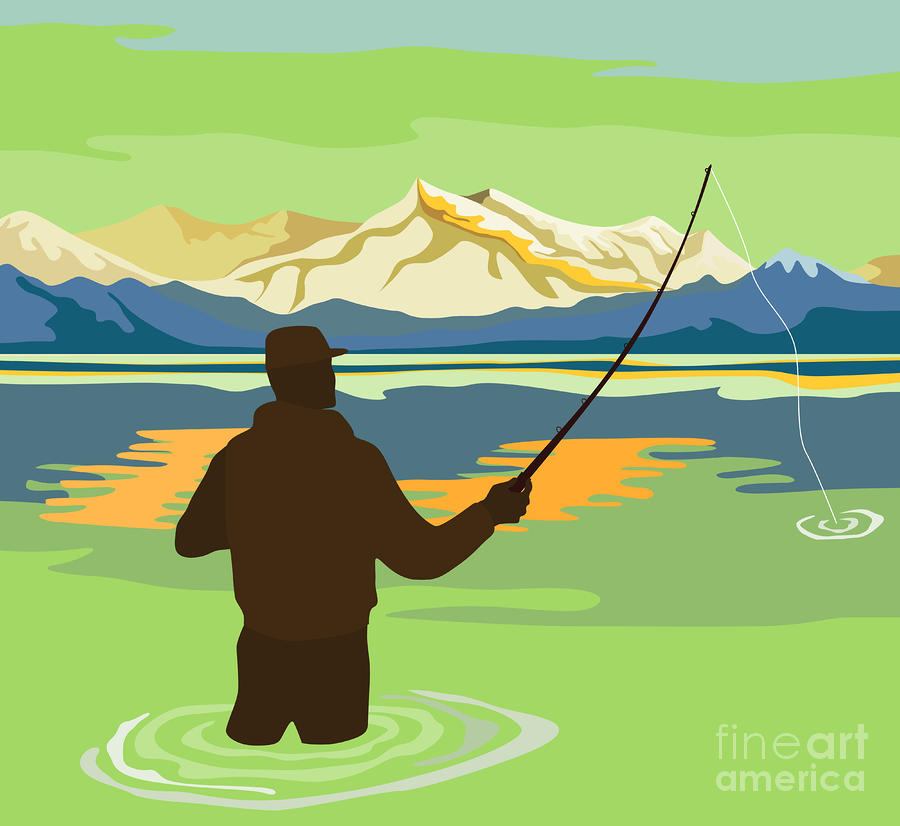 River clipart fisherman #3