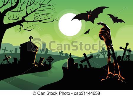 Zombie clipart graveyard #4