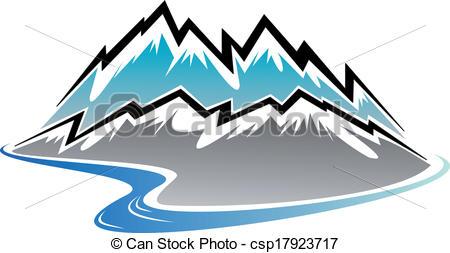 River clipart mountain logo #5