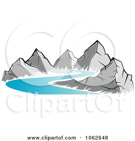 River clipart mountain logo #6