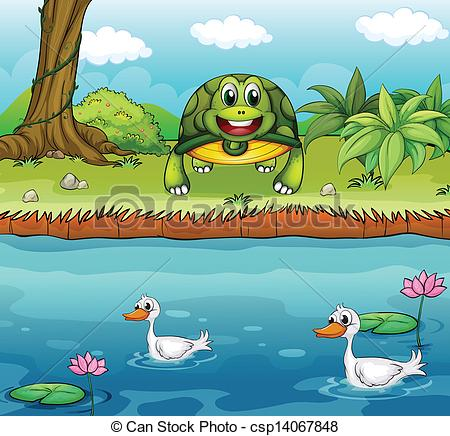 River clipart river animal The A turtle ducks turtle