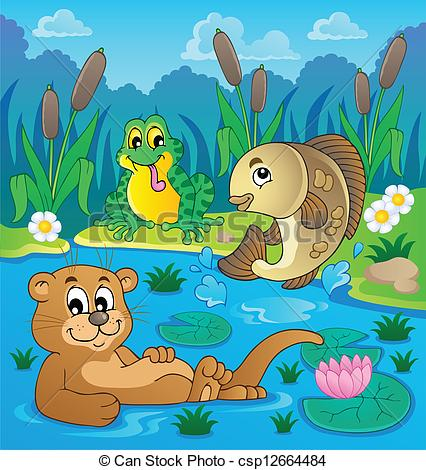 River clipart river animal Image image fauna 2 Vector