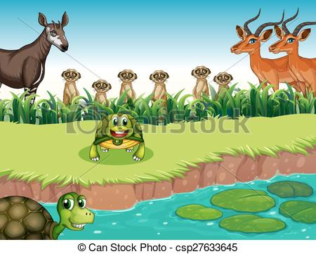 River clipart river animal Csp27633645 animals and living of