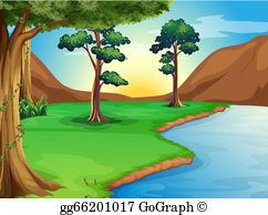 River clipart river bank #7