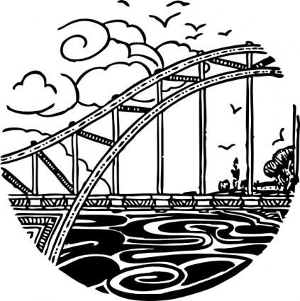 River clipart rpg Art Bridge Bridge Clip Over