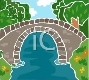 Bridge clipart river River Over Clip Art Clip