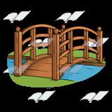Bridge clipart river Wood Clip Bridge—over river Wood