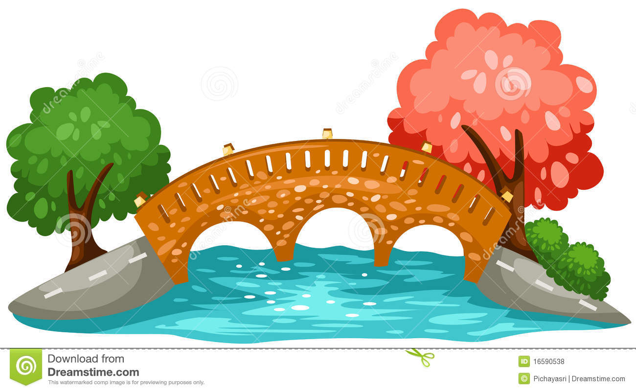 Bridge clipart river Isolated Background cps Cartoon China