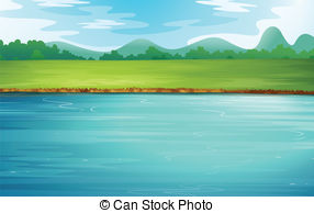 River clipart beautiful scenery #6