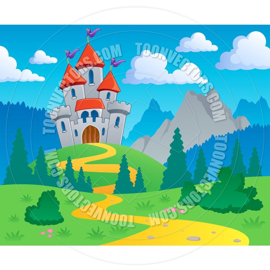 Castle clipart landscape  landscape art Castle Landscape