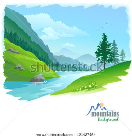 Valley clipart story mountain Best Distant Clipart Landscape&Background 173