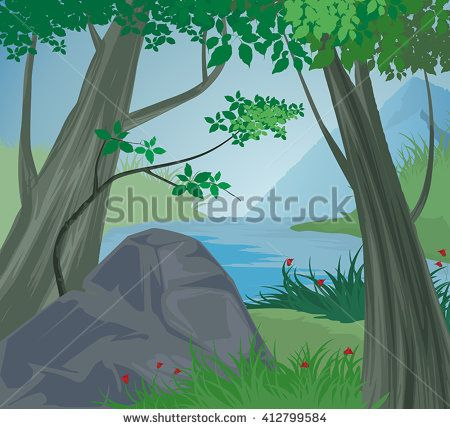 Serene clipart river scene Pinterest mountain 173 landscape nature