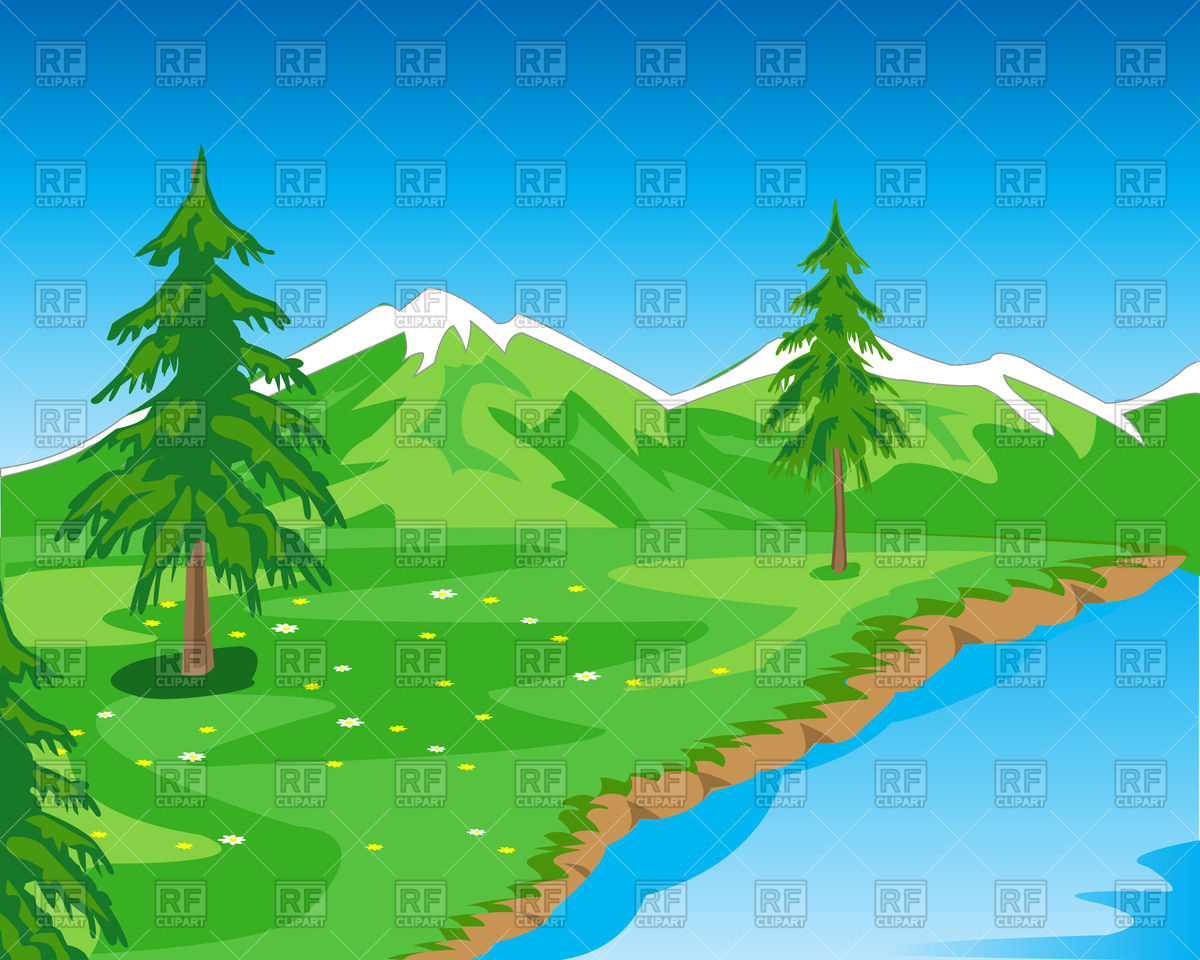 River Landscape clipart mountain river Landscape Clip – Rivers Art