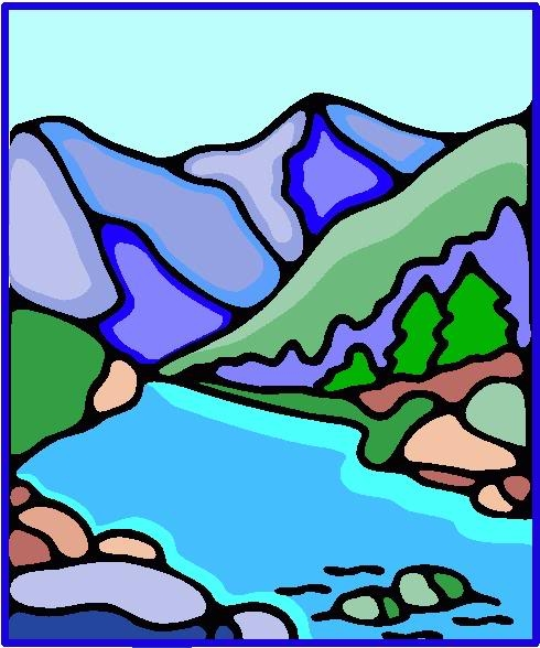 River Landscape clipart mountain river Mountain 36 com Free Cliparting