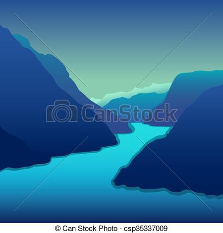 River Landscape clipart mountain sea River Vector mountain Vector Beautiful