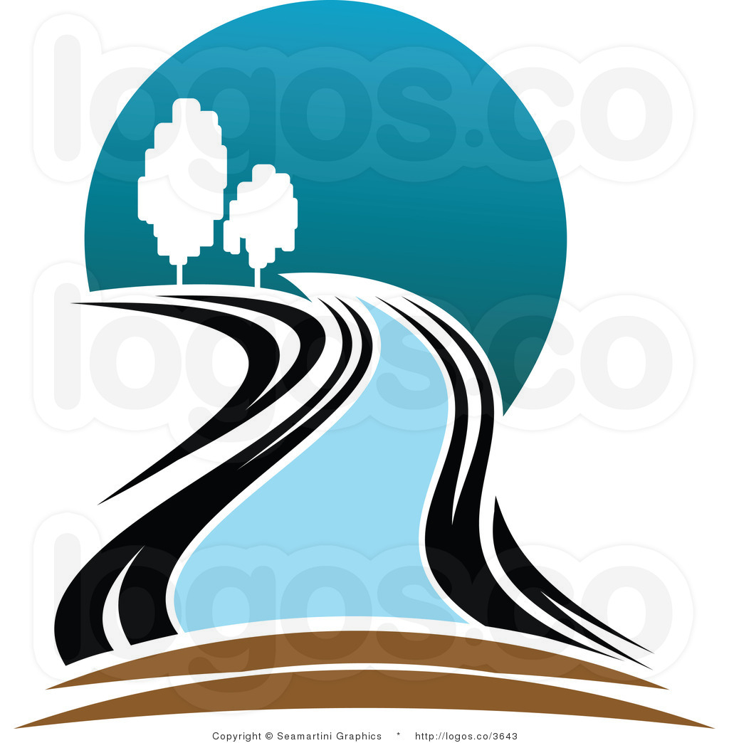 Curve clipart winding river River Panda Free Mountain Images