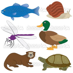 River clipart river animal River Coroflot Pond com Art
