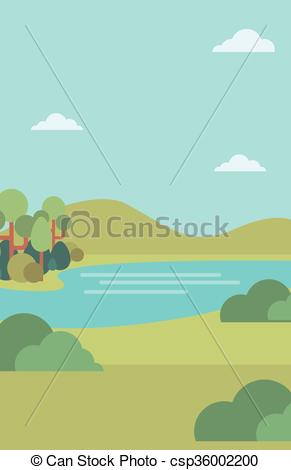 River Landscape clipart river background #2