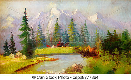 River Landscape clipart river background #4