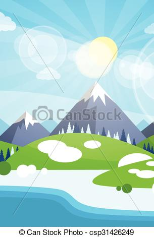 River Landscape clipart river background #5