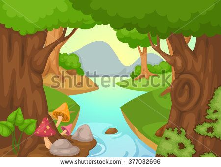 River Landscape clipart river background #3