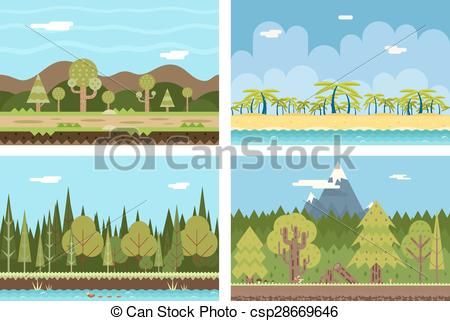 River Landscape clipart river background #6
