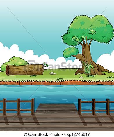 River Landscape clipart river bank #4
