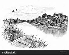 River Landscape clipart river bank #5