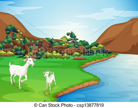River Landscape clipart river bank #6