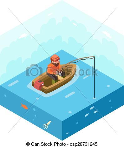 River clipart fisherman #2