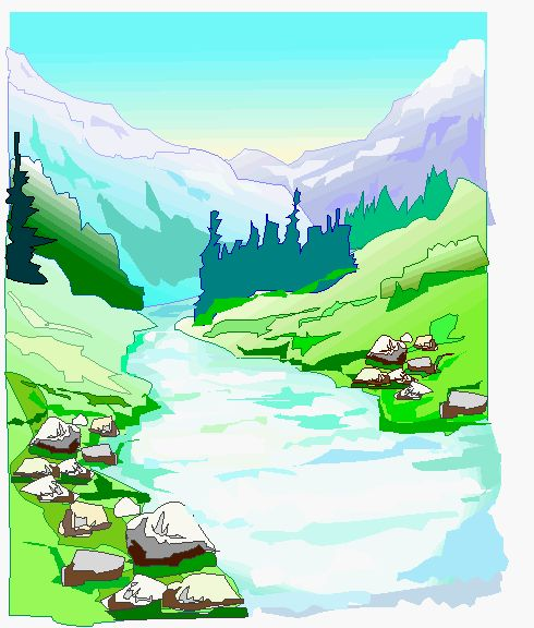 River Landscape clipart Gif river about Curtains 17