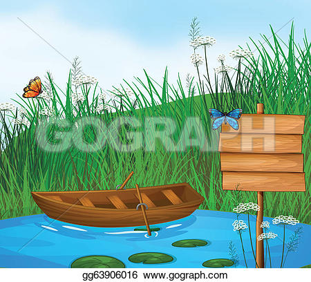 River Landscape clipart vector #9