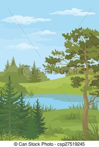 River Landscape clipart vector #2
