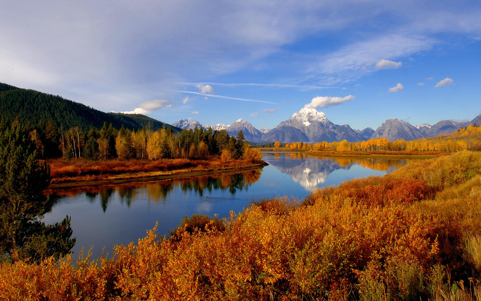River Landscape clipart wilderness Landscape and full Mountain Autumn