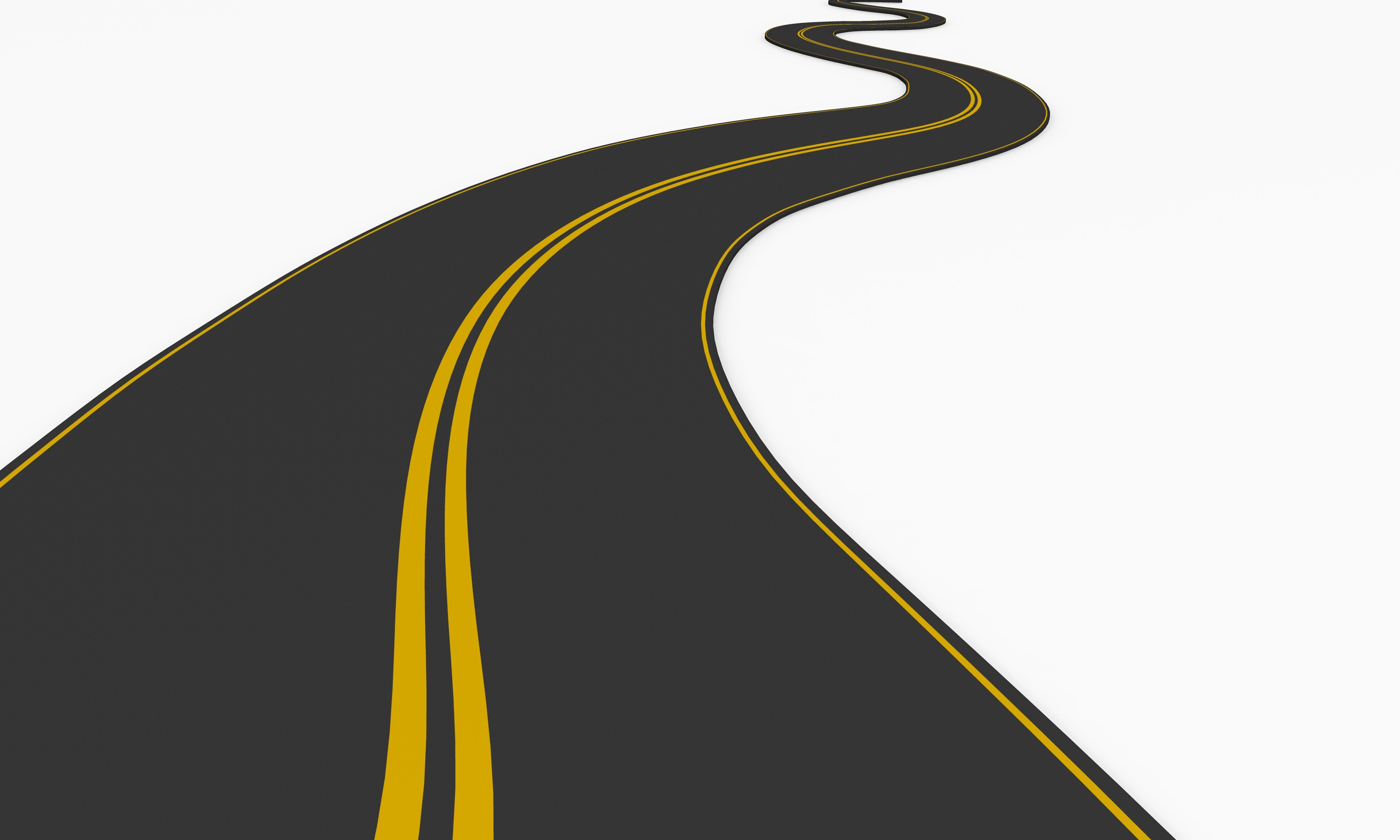 Curve clipart road map #2