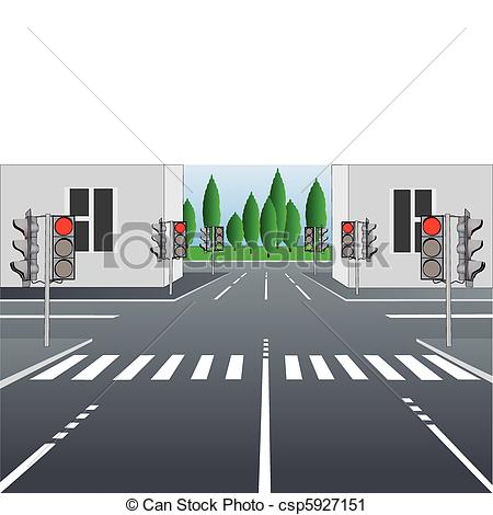 Asphalt clipart city road Street illustration of street Vector