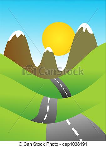 Road clipart country road #12