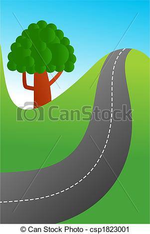 Road clipart country road #10