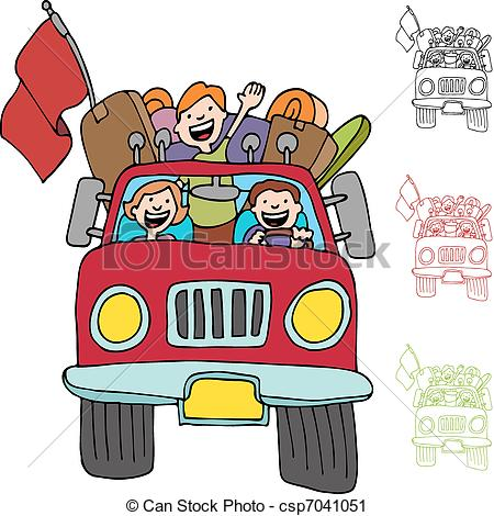 Road clipart family road trip #7