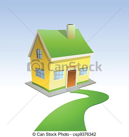 Road clipart house #12
