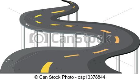 Road clipart winding trail Vector Clip Art road road