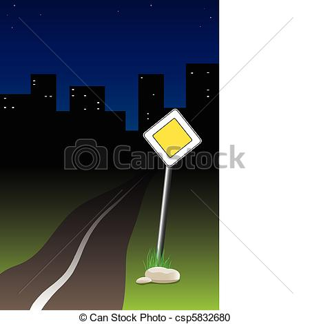 Road clipart night #5